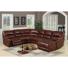 European style latest design luxury leather sectional sofa bed furniture couch living room recliner sofa sets with chaise