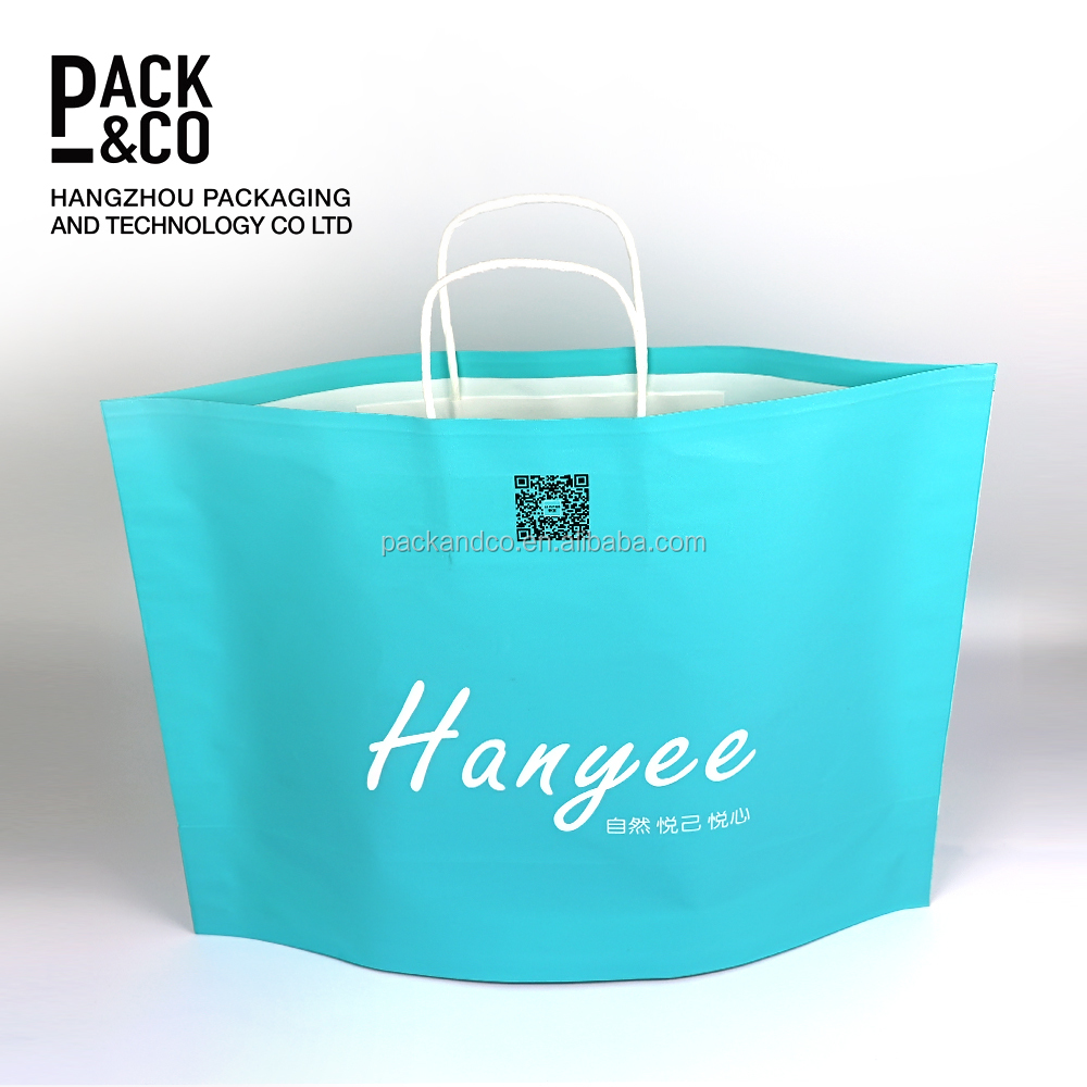 custom printed paper euro shopping goody bags products handles for bags craft