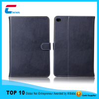 Wallet design Genuine leather case for ipad mini 4, best for ipad case leather