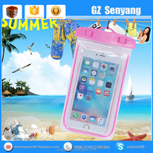 2016 Hot New Products Light Up PVC Waterproof Cell Phone Bag