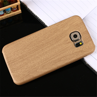 Wood grain leather mobile phone case cover for samsung galaxy j7