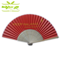 Custom made craft bamboo skeleton paper folding hand fan with your artwork