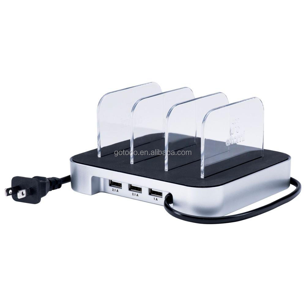 With EU/UK/US/AU/JP 3 5 ports charging cable multi device charging station