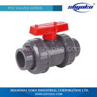 Hot sale high quality plastic PVC DOUBLE UNION BALL VALVE (SOCKET/THREAD) water solenoid valve