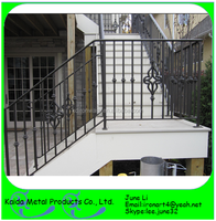 alibaba removable modern cast wrought iron stairs grill design