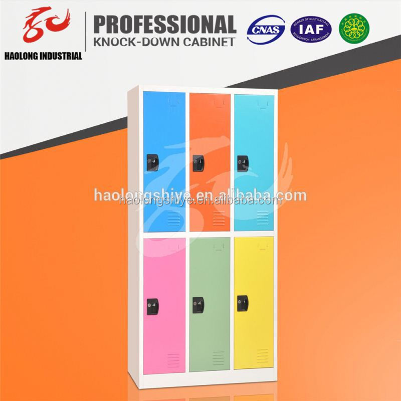 customized steel gym 6 door clothing steel locker/wardrobe