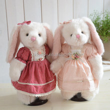 Original Dressed Stuffed Bunny Plush Toy