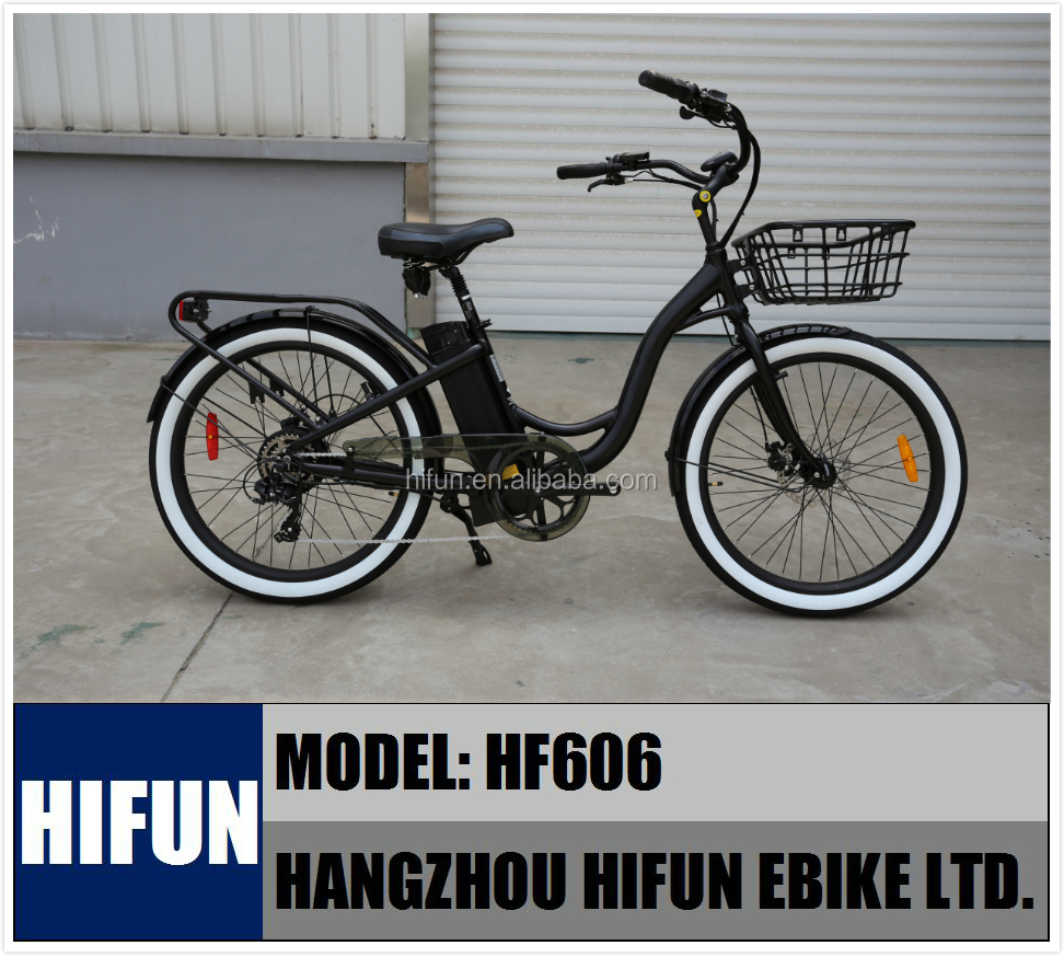 500W 48V High Quality Disc-brakes Beach Cruiser Ebike, Beach Electric Bicycle, Beach Cruiser Electric Bike