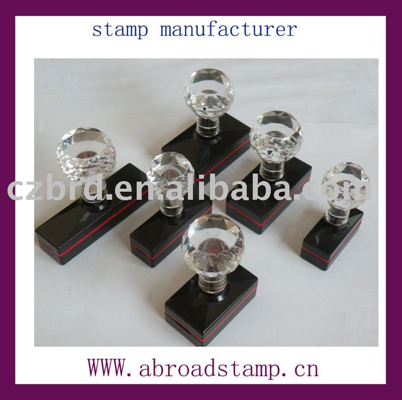 high quality crystal handle flash foam stamps