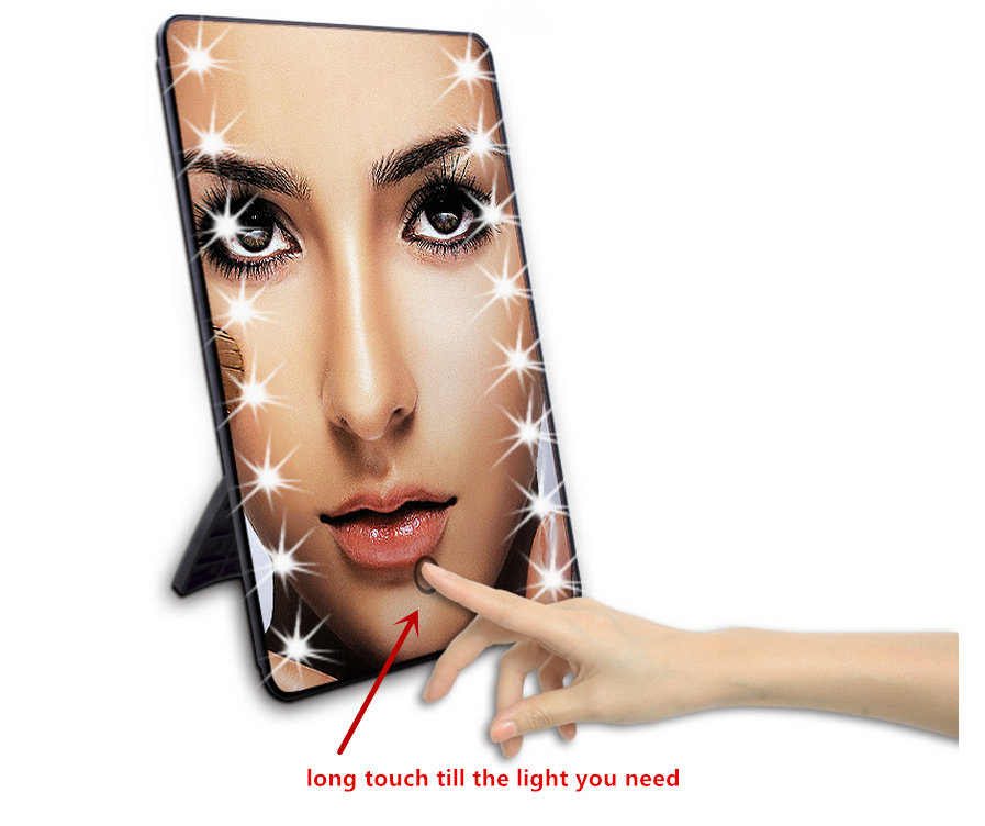 Fashion hot selling led light mirror touch sensor switch