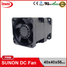 SUNON PWM 4056 40x56 40mm 40x40 40x40x56 mm 12V DC Axial Flow High RPM Computer Cooling Fan 40x40x56mm (PF40561B1-Q000-S99)