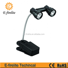 6 LED flexible neck book light with clip