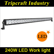 50 inch 240w Wholesale 12 Volt Single Row Car 4x4 LED Offroad Light Bar