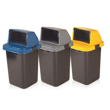 Felton Large Plastic Waste Rubbish Disposable Bin