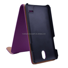 Leather Flip Case for Huawei Ascend G700