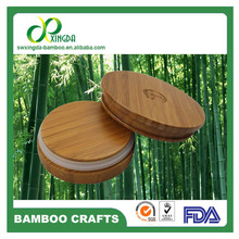 Good Seal performance bamboo lids with rubber seal for glass jars