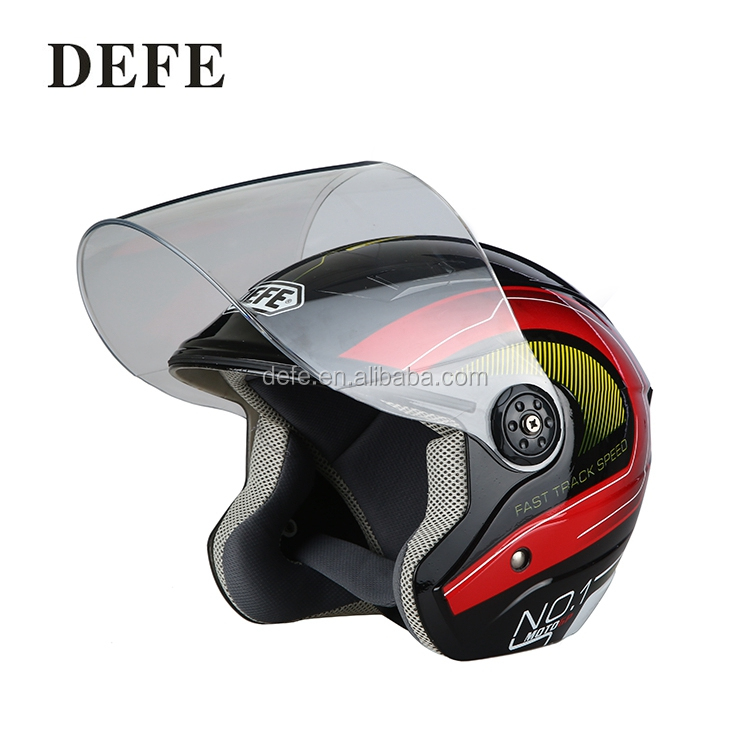Cool racing motorcycle cross open face helmet