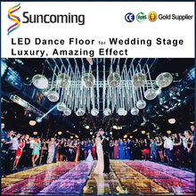 2017 New Arrivals Wedding Stage RGB Lighted Mirror Dmx Led Dance Floor