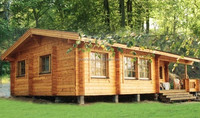 Holiday Resort Style insulated knock down Wooden House India Price