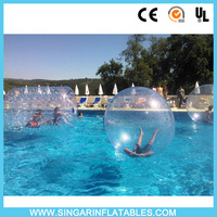 Hot Sale Clear human sized big water balloon/water ball/walk on water balls rolling ball