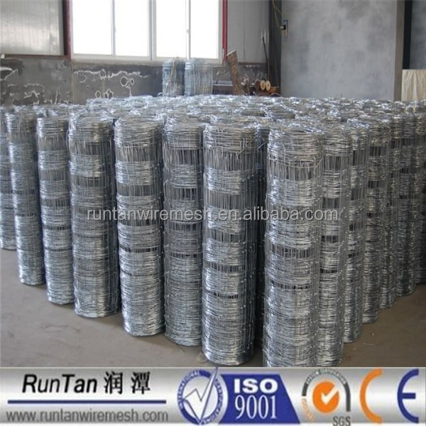 ISO9001 anping galvanized 1.2m,1.5m,1.8m grassland farm hinge joint field fence for sheep and cattle