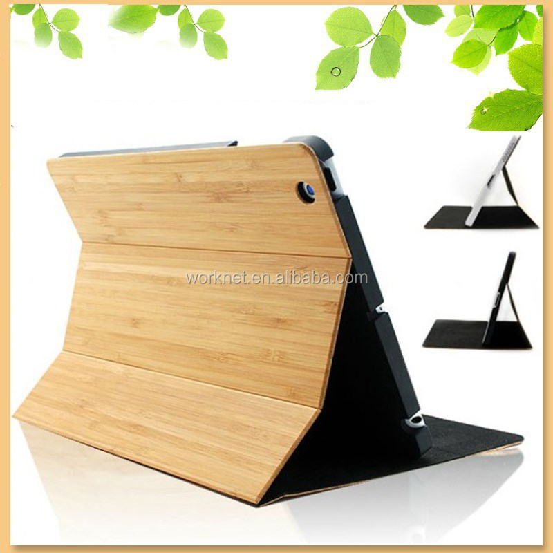 new product for ipad mini case, real bamboo case for ipad mini hard case