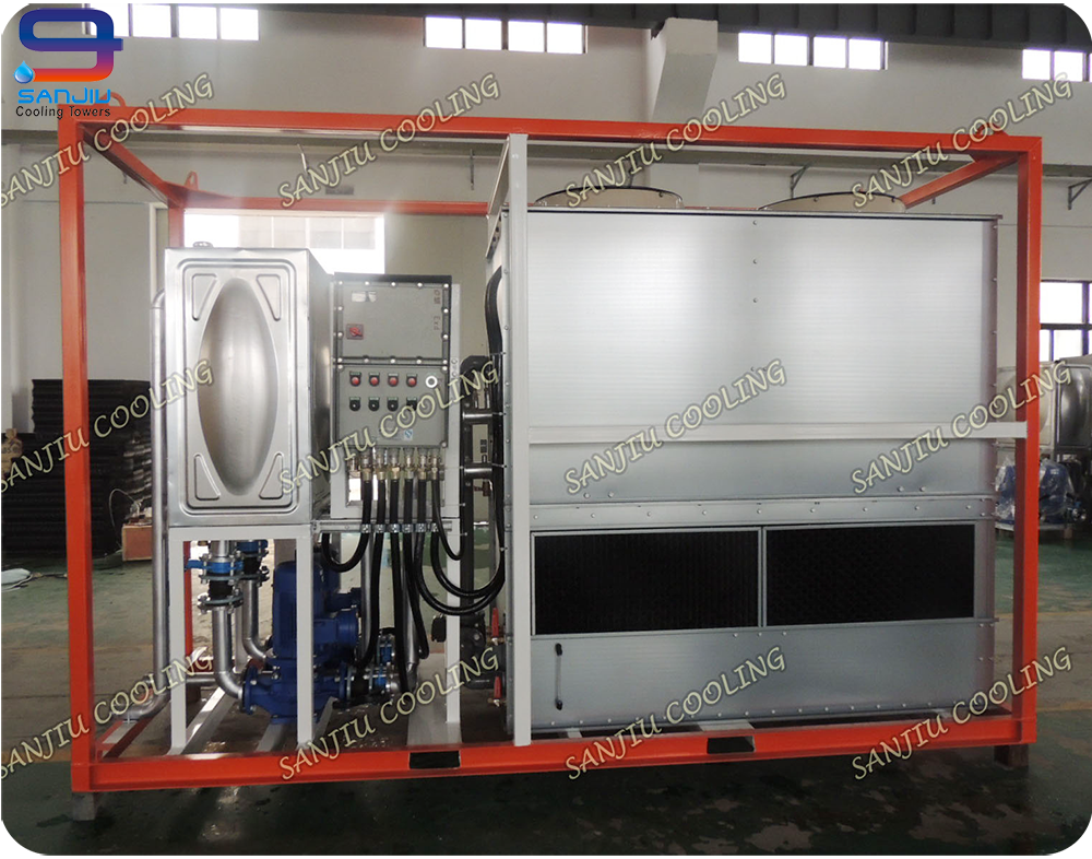 35 Ton Closed Circuit Counter Flow GTM-7 Supedyma Water Cooling Tower Manufacturer Cooling System For Air Compressor