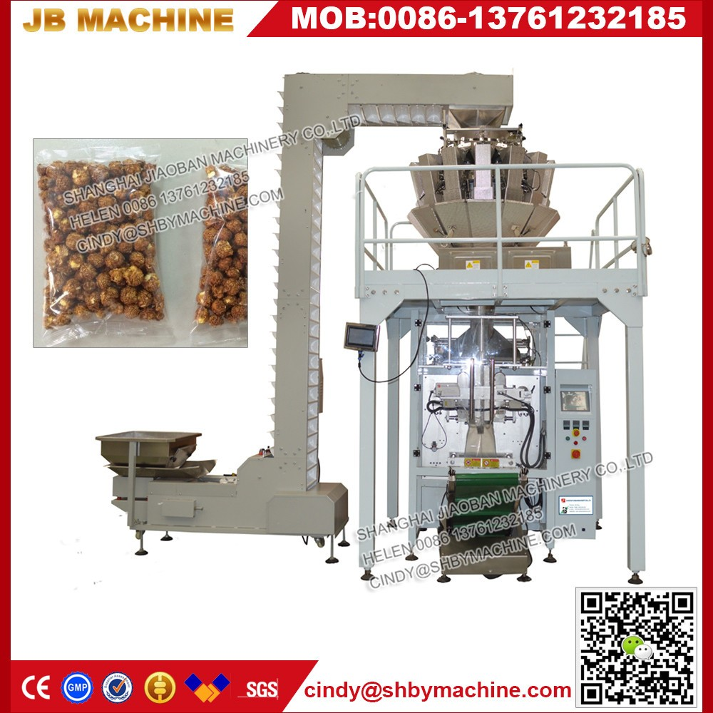 JB-420Z PLC 14 head multihead weigher for lentils packing machinery lentils packaging machinery