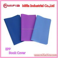 eco-friendly material EPP plastic soft book covers for school exercise books