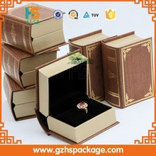 High Elegant Clear Diamond Ring Display Box/Pocket Size Luxury Loose Display Box With Tray