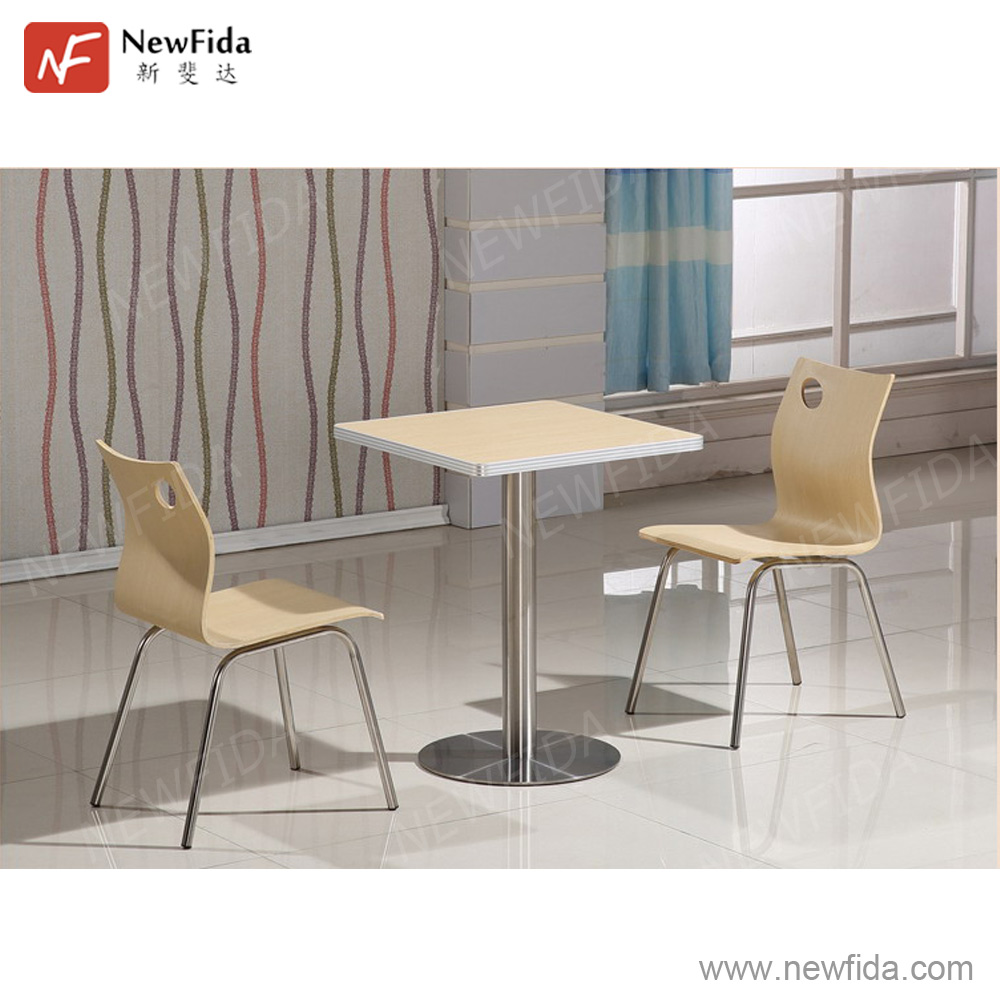 NewFida High Quality Stylish Wood Metal Material China Cheap Restaurant Furniture Wholesale