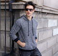 Men Autumn Winter Fashion Soild Color Hoodie High Quality 100% Cotton Leisure Hoodies Men Gray Hoodie Blank Custom Logo
