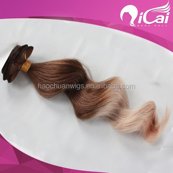 High quality indian clip in hair, two tone clip in hair extension