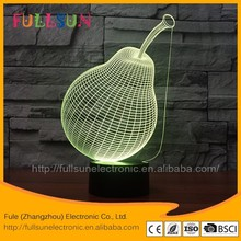 led desk lamps with pear illusion acrylic illusion table lamp for kid's gifts FS-3604