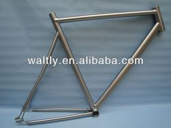 2014 newest titanium fixed gear road bike frame ,TT bike frame