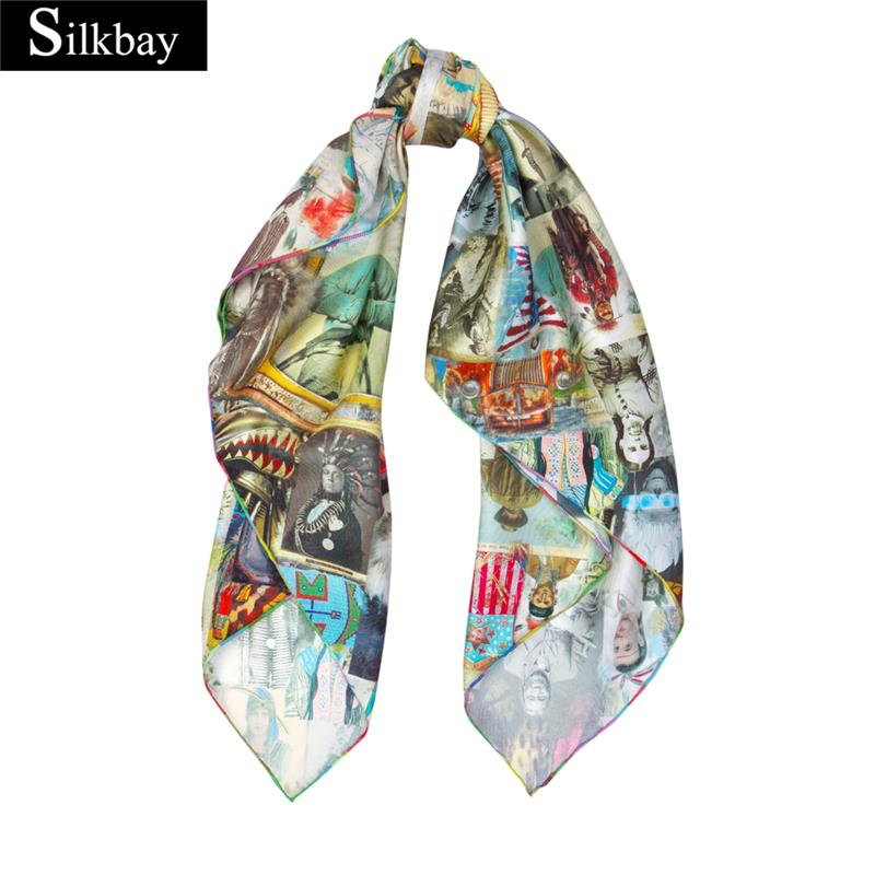 Top Quality 100% pure silk china beauty newest fashion scarf delivery by to door