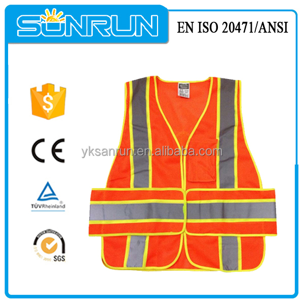 Long lace removable walking reflective sleeves vest