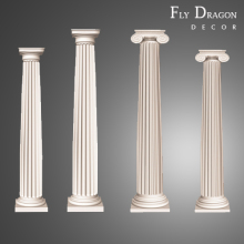 High quality polyurethane moulding w HD-CL005 roman column mold