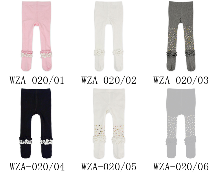 Infant Baby Cheap Ruffle Design Your Own Tights Fashion Cute Grey Compression Tights