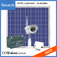 Water Resistance P2P View 1Mp Hd 3G Wcdma Wifi Security Solar Power Ip Camera