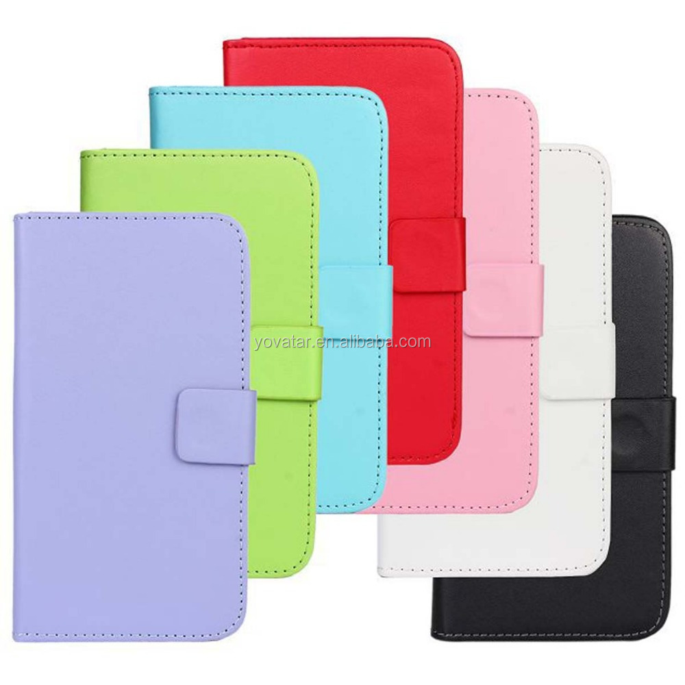PU leather case with Card Slot Magnetic Button Closure Stand Flip Folio screen protector case cover for Samsung S5