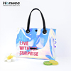 Portable Handle Holographic Clear Transparent Laser Waterproof Travel Accessories Skincare Cosmetic Storage Organizer