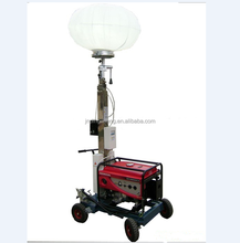 Mobile Light Tower With Gasoline Power Generator