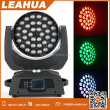 China factory 36x10w rgbw led wash moving head zoom