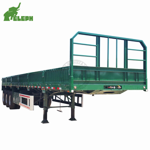 Factory sale China truck side wall detachable 40ft 3 axle bulk cargo chassis trailer for sale