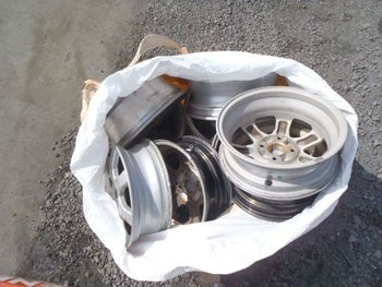 used auto parts aluminum wheel scrap prices for container