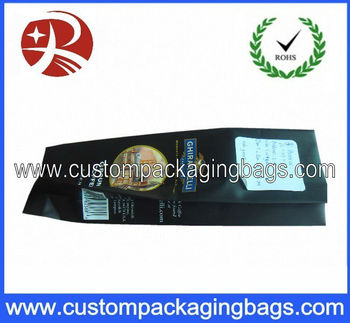 Black aluminium foil Side gusset Coffee bag packaging