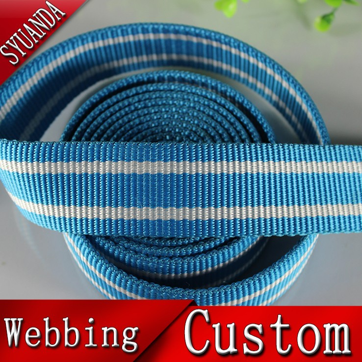 Customized hot sell webbing polyester stripe belts