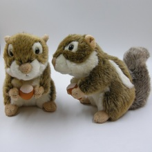 stuffed plush squirrel or mouse animal simulation toys for children