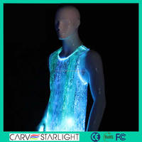 Luminous mens party wear light up stage men's shirts